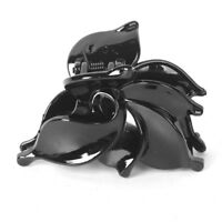 Black leaf Plastic Crocodile Hair Claws Clamps Clips Combs Hairpins Lady Women