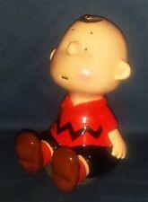 "Schmid Charlie Brown 6"" Ceramic Musical Figure, #393 (Music, Made in Japan) Ec!"