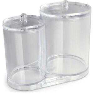 Cotton Wool Ball Bud Swab Holder Jar Makeup Pad Container Organizer Dispenser