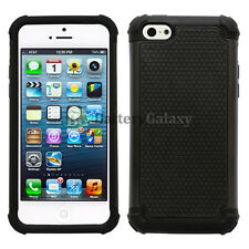 Hybrid Rugged Rubber Matte Hard Case Cover Skin for Apple iPhone 5C