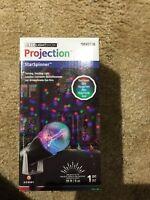 GEMMY LED Lightshow Projection StarSpinner RED GREEN BLUE Swirling Light 0849736