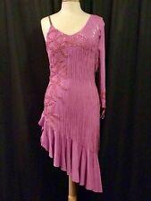 Je Bling Lavender Fringe Ballroom Comp Latin Rhythm Costume Swarovski US 4-8