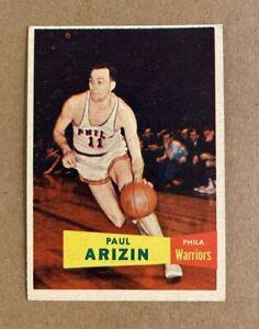 1957-58 Topps PAUL ARIZIN card No. 10 Phila. Warriors