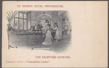 London WESTMINSTER St Ermin's Hotel Advertising c1902 undivided back PPC