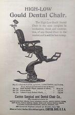 1897 AD(J25)~CANTON SURGICAL AND DENTAL CHAIR CO. CANTON, O. GOULD DENTAL CHAIR