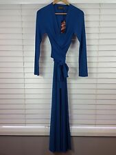 BARBARELLA Vintage sz 8 womens Rochelle maxi dress in teal  NEW RRP$295 [#3171]