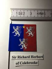 113) 1x 25mm 28mm Medieval War of Roses WOR Yorkist Colebrooke Banner /Flag No.1