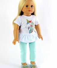 "Doll Clothes AG 18"" Pants Mint Top Unicorn Made To Fit American Girl Dolls"