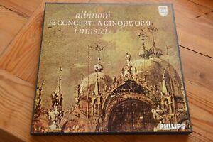 ALBINONI 12 Concerti A Cinque op. 9  I MUSICI FELIX AYO 3 LP box Philips