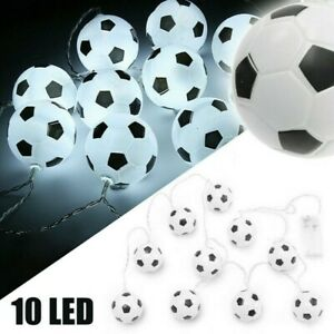 10LED Football Fairy String Light Boy Battery Bedroom Decor Light Lamp #N1