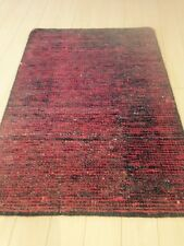 Spectacular Hand Made Area Rug Red/Black Soumac Solid Flat Woven Dhurrie 8x10