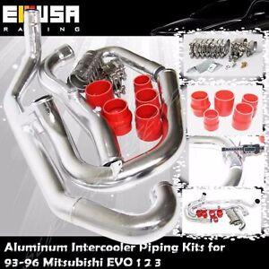 Intercooler Piping+Silicones+Clamps for 93-96 Mitsubishi EVO 1 2 3