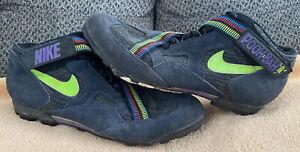 Vintage Nike MTB Pooh Bah Mountain Bike Cycling Shoes Obsidian Green Purple 13