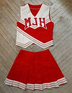 Vintage Medford Jr High School Cheer White Red Cardinals Cheerleading Uniform