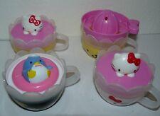 2007 Sanrio Hello Kitty McDonald Toy Plastic Cups set of 4