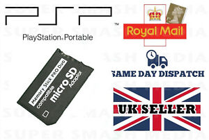 MICRO SD TO MEMORY STICK PRO DUO ADAPTER FOR PSP PLAYSTATION PORTABLE -NEW