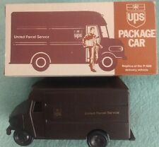 VINTAGE PLASTIC FRICTION UPS PACKAGE CAR, P-600 REPLICA, CIRCA 1977, ORIG BOX