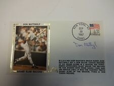 Don Mattingly Grand Slam Record Autographed Cache New York Yankees M92197
