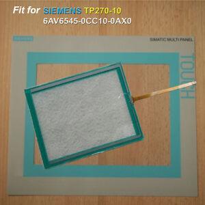 for SIEMENS SIMATIC TP270-10 6AV6545-0CC10-0AX0 Touch Screen Glass + Film