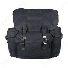 Reproduction Black GERMAN Army Rucksack / Backpack CANVAS Bag