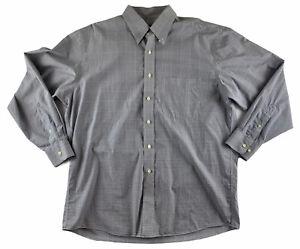 Men's Jos A Bank Traveler Collection Cotton Long Sleeve Dress Shirt Size L