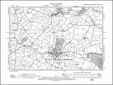 East Haddon, Ravensthorpe, old map Northants 1900: 37NW repro