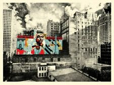 """SHEPARD FAIREY OBEY """"VOTING RIGHTS ARE HUMAN RIGHTS MKE MURAL"""" NUMBERED & SIGNED"""