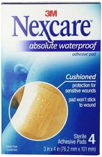 Nexcare Waterproof Adhesive Gauze Pad 3 Inches x 4 Inches, 4 Each