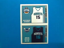 2015-16 Panini NBA Sticker Collection n.157-158 Jersey Charlotte Hornets