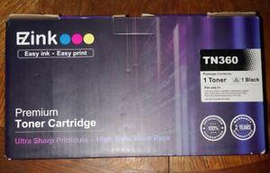 EZink TN360 Black High Yield Toner Cartridge for Brother, NEW!!!
