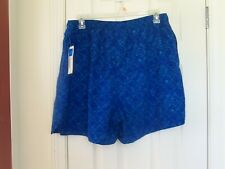 Men's COVINGTON Swimsuit Trunks with Liner Drawstring w Pockets Size XL NEW BLUE