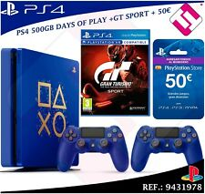 PS4 500GB 2 MANDOS GRAN TURISMO SPORT MONEDERO PLAYSTATION STORE 50 DAYS OF PLAY