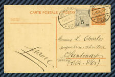 LUXEMBOURG - Entier postal de LUXEMBOURG-VILLE pour SANTENAY (Côte-d'Or) -1924