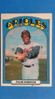 1972 Topps Baseball Card Frank Robinson Baltimore Orioles #100 HOF