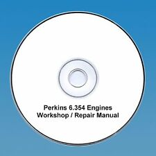 Perkins 6.354 Series Motores Taller reparación Manual CD Pdf
