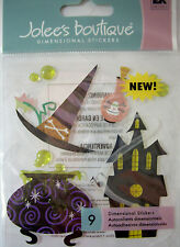 NEW 9 pc POTIONS Halloween Witch Cauldron Brew Haunted  3D Stickers JOLEE'S