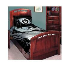NFL Oakland LA Raiders Comforter Bed Set 5pcs Queen Size