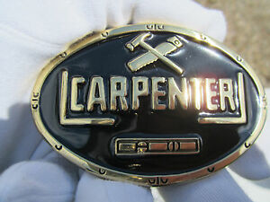 Carpenters belt buckle carpentry  woodwork.