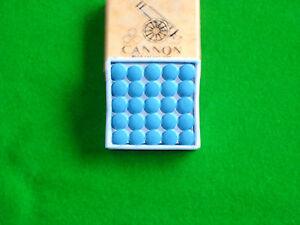 Box of 50 x 9mm Cannon Blue Velvet snooker pool cue tips