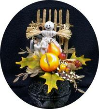 Sweet African American black  Halloween fall ghost Wedding Cake topper Harvest
