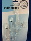 New Plate stand clear 3 x small 10.5cm plate display stands easel style