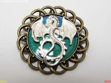 steampunk brooch badge silver dragon Game of Thrones Harry Potter