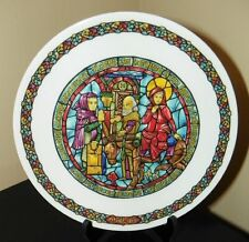 Darceau~Limoges Noel Vitrail~Stained Glass Christmas Plate #3~No Room At The Inn
