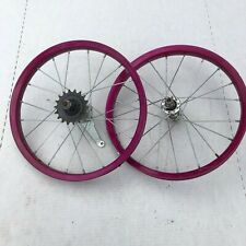 """Kids Bicycle set rims 16"""" x 2 color is Maroon with coaster brake."""
