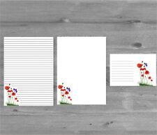 Papaveri & Farfalla LETTERA CARTA DA LETTERE E BUSTE set di cartoleria, set regalo
