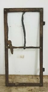 Antique Cast Iron Window Frame Light