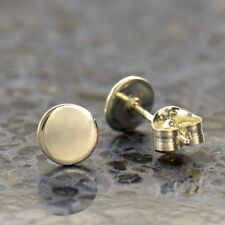 Sterling Silver .925 Circle Dot Minimalist Simple Modern Stud Post Earrings