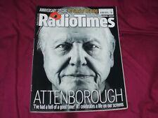 RADIO TIMES 10-16 NOV 2012 DAVID ATTENBOROUGH FRONT COVER EXCELLENT/NEAR MINT