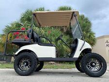 New listing  REFURB white 2017 ezgo 48v txt 4 seat Passenger golf cart alloy rims lifted FAST