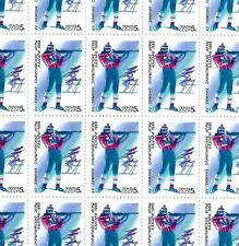Russia - 1988 MNH Full Sheet (50 Stamps)  XV Winter Olympic Games Biathlon Sport